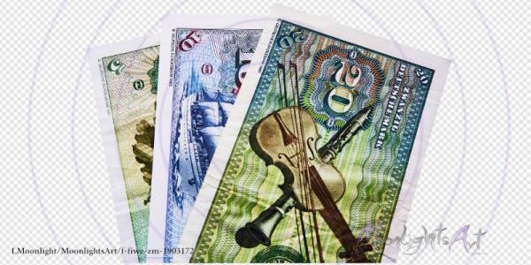 Deutsche Mark - Geldscheinfächer Rückseite - freigestellt