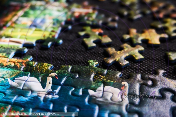 Puzzle legen als Freizeitbeschäftigung