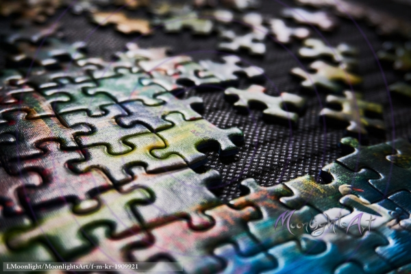 Puzzleteile - Nahaufnahme