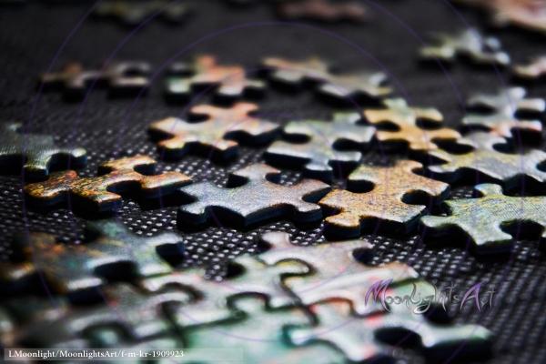 Puzzle legen als Freizeitbeschäftigung - Nahaufnahme