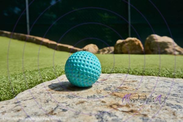 Minigolf - Ball Nahaufnahme